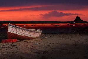 sunrise at holy island mock up by mo-guy
