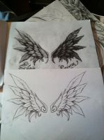 commision of wings, (good and evil) by gkarts661