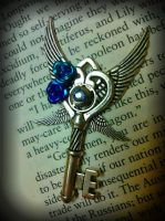 Wings at Dusk Fantasy Key by ArtByStarlaMoore