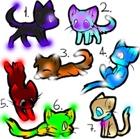 Glow kitty Adopts (Closed) by wolf5winer