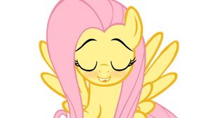 Fluttershy is Satisfied by Cookie-Dough-Batter