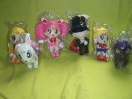 My Sailor Moon Plushies by ManaShadow369