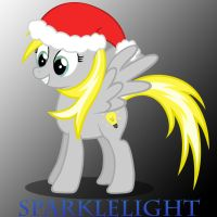 My OC Drawing with x-mas hat by BronyRD