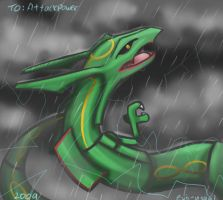 rayquaza by Evil-usagi