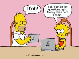 The Simpsons playing MSQ Online by DJgames