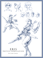 Eris Character Sketch Page by Myiaorkhley