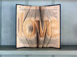 Folded Book Art - Love by jewelia2