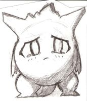 Sad Gengar by w-a-r-r