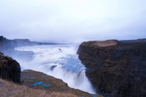 Gullfoss Waterfall stock by little-spacey