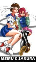 CAPCOM GIRLS: Sakura and Meiru by darkknightstrikes