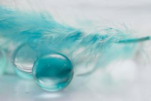 soft blue feather by JuliaBruch