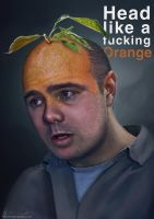 Head Like a F*cking Orange - Karl Pilkington by devotion-graphics