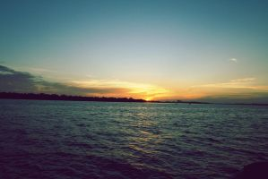 Sunset from the bay by Hankins