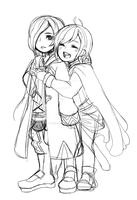 Wip Couple chibi by CrierLes