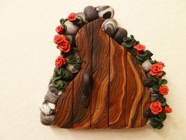 Climbing Roses Fairy Door by FlyingFrogCreations