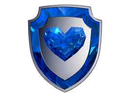 Crystal Heart Shield by SwedishRoyalGuard