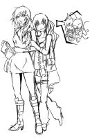 Claire and Serah Farron by Agacross