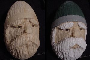 Dwarf Carving in a Basswood Egg by AskGriff