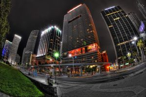 Downtown Miami 3 by Aerostylaz