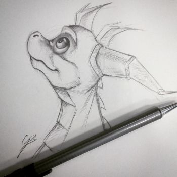 Sketch Spyro by GirlScoutDragon