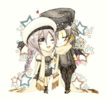 TM commission: Scarf Couple by Fortranica
