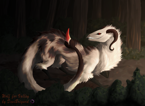 Commission: Wolf by DeviBrigard
