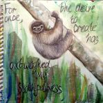 Slothfulness - Art Journal Page by ambrabealey