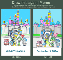 Draw This Again: Emotions At Disneyland by CraigTheCrocodile
