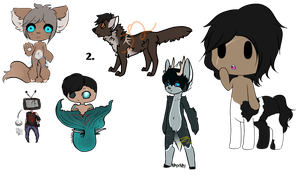leftover Adopts : Open : Set price : by ItsThingTwo