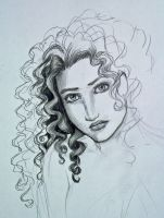 Curly hair study... by Melibells