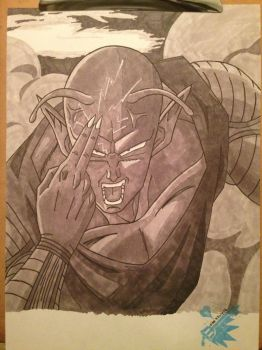 DBZ Piccolo /*-*\ Gray-scale Markers by vipexplosion