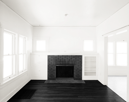 Empty Room - Two Rooms - Black Fireplace - Black F by Quryous