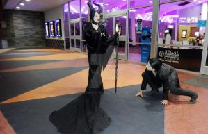 Maleficent Cosplay: Movie Premiere4 by GagaPotterTribute