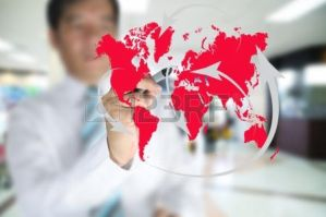 11409907-business-man-write-global-network-or-glob by varimpatimahesh