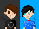 Dan and Phil by Moonlight1328