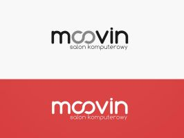 Moovin - computer store logotype by EffectiveFive