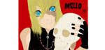 Mello with a Skull by PurpleBBear