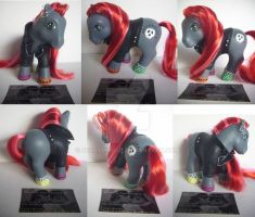 My little Pony Custom G1 Rock 'n Roll Pony by BerryMouse