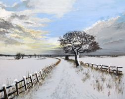 Winters Trail by NorthumbrianArtist