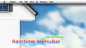 Rainbow MenuBar for Samurize by AndreTM