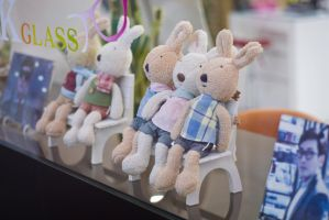 Bunnies by the window by Scorpini-Stock