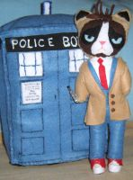 Grumpy Cat Doctor Who with Sonic Screwdriver by lincornell