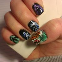 League of Legends Nail art: Summoner Icons (right) by MiavW