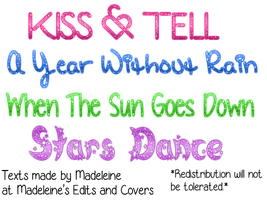 Selena Gomez Song Titles Png+Requested by MaddieLovesSelly