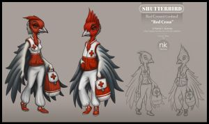 Red Cross Characters by Nekranea