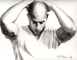 Vin Diesel .. as himself by kty-razza