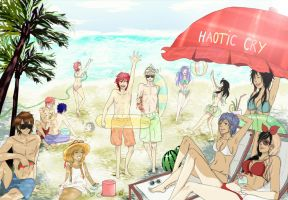 Haotic Cry at the Beach by HimeChie