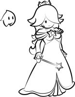 Paper Rosalina inked by Ugh-first-aid
