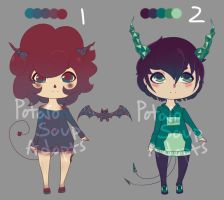Crystal Demon Adopts (OPEN) by PotarosoupAdopts