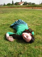 lying on the grass 6 by MissKayaStock